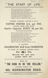 Advert for The Sign Is In The Cellar, public house